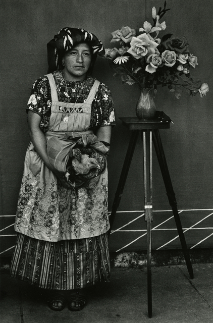 , 'Portrait with chickens, Momostenango,' ca. 1970, Deborah Bell Photographs