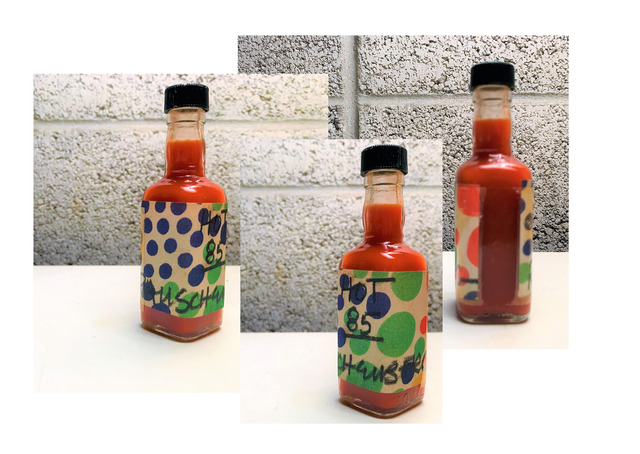 "Robert Rauschenberg, '""Hot 85"", 1985, Rauschenberg's Homemade Hot Sauce Bottle, Signed/Dated,  UNIQUE', 1985, VINCE fine arts/ephemera"