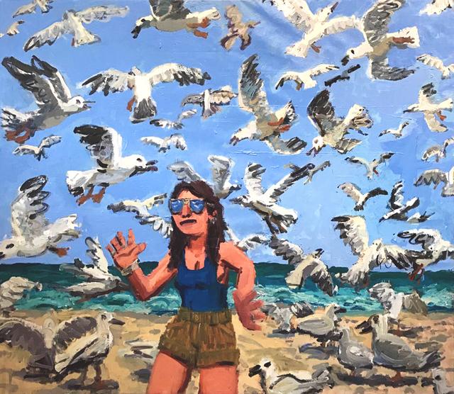 , 'Seagulls,' 2017, Galerie Sébastien Bertrand
