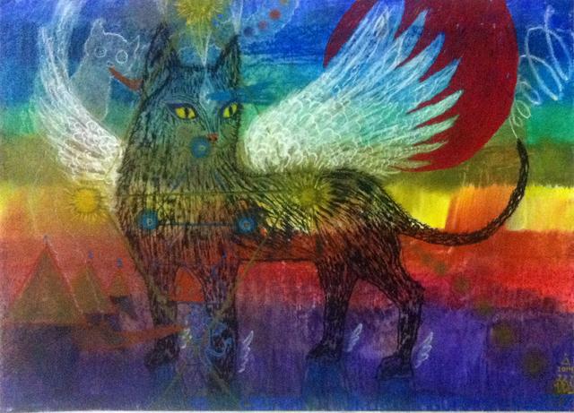 , 'Gato con alas,' 2014, Mite