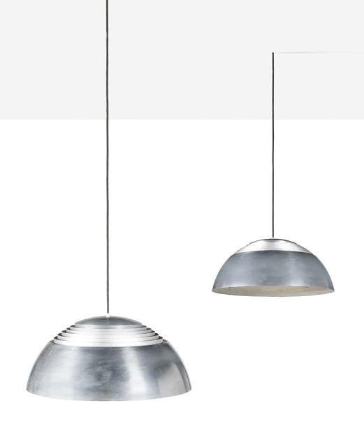 Arne Jacobsen, 'Pair of hanging lamps', 1960, Design/Decorative Art, Aluminum, Aguttes
