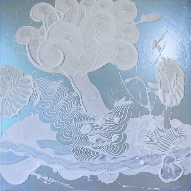 Catherine Howe, 'Blue Mica Painting (Garden No. 1)', 2019, Winston Wächter Fine Art