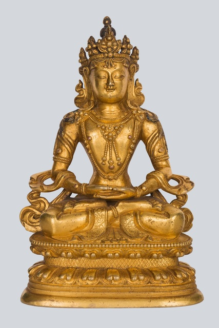Bronze Sculpture, 'A Gilt Bronze Figure of Amitayus, China, 17-18th Century, 17 cm.', Sculpture, Arman Antiques Gallery