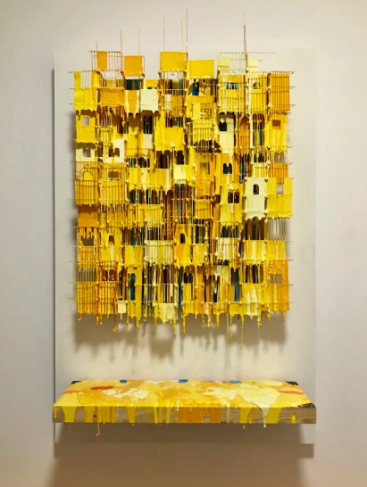 , 'Little Boxes Yellow,' 2017, House of Fine Art - HOFA Gallery