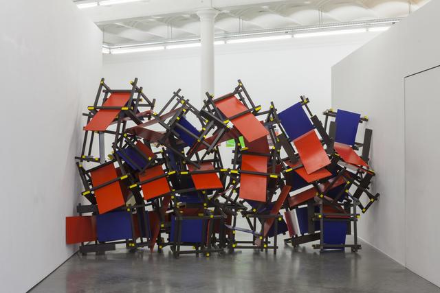 , 'Red-Blue Barricade,' 2017, Tatjana Pieters