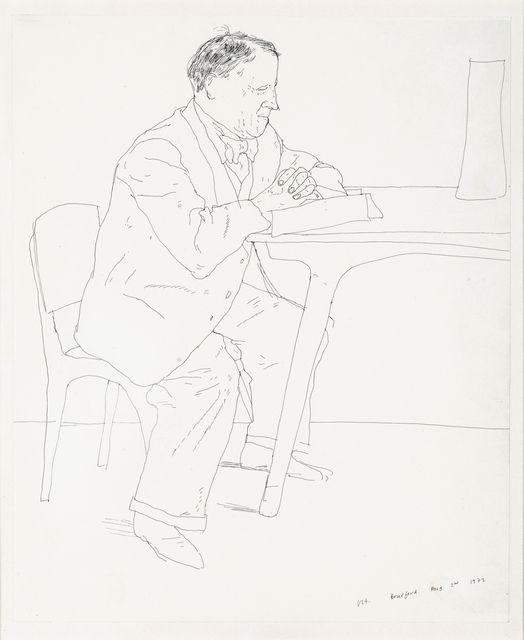 , 'Artist's Father Reading at Table,' 1972, Offer Waterman
