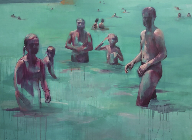 Oda Tungodden, 'The Bathers', 2019, Painting, Oil and acrylic on canvas, 99 Loop Gallery