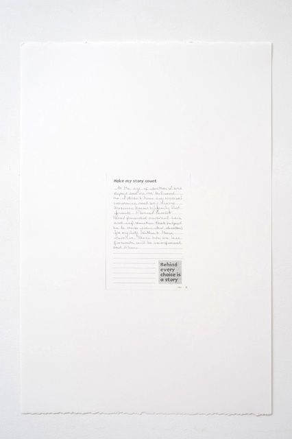 , 'Make My Story Count, Letters to Planned Parenthood (At the Age of Sixteen),' 2011, Andrew Kreps