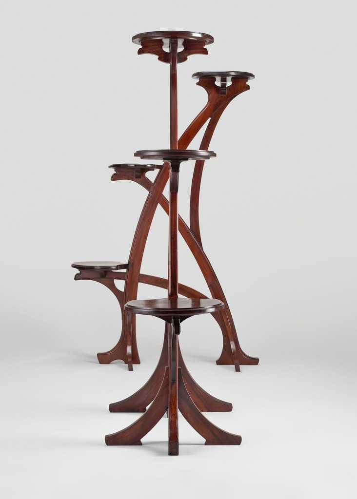 Gustave Serrurier-Bovy, 'Pair of large stands,' 1901, Yves Macaux