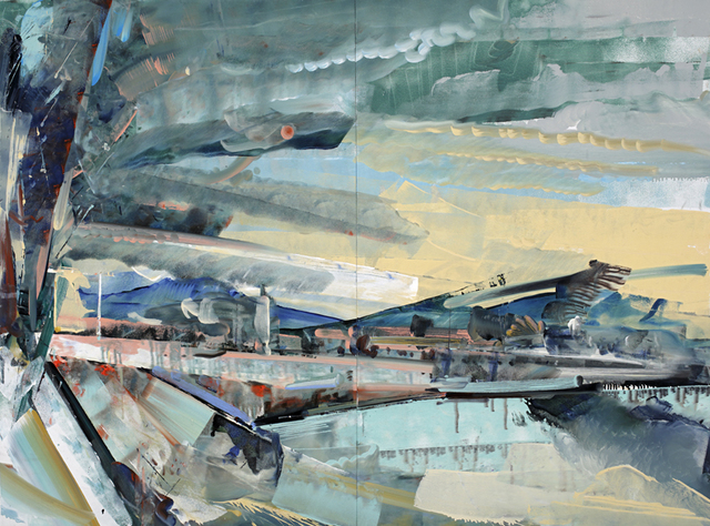 David Brewster, 'Naples Sky, Striped Hills', 2015, Chase Young Gallery