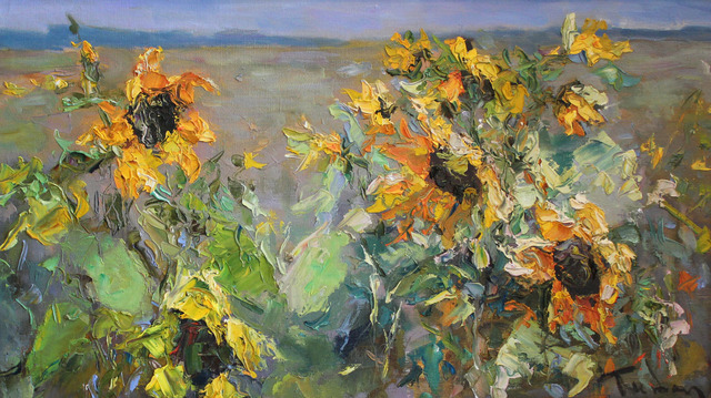 , 'Sunflowers in the Field,' 2018, Paul Scott Gallery & galleryrussia.com
