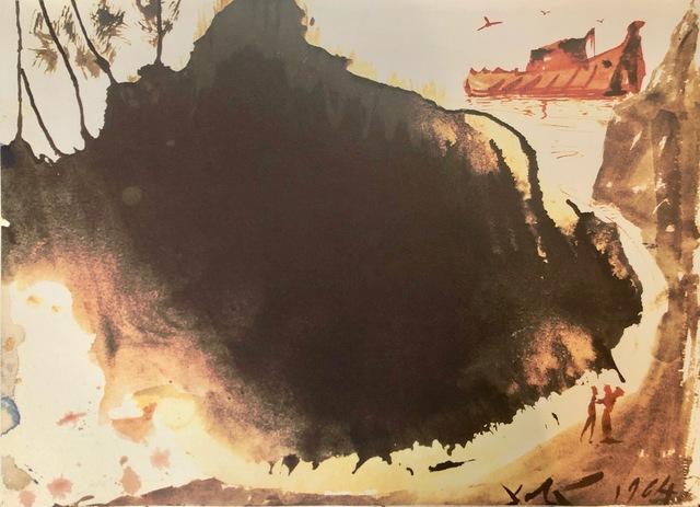 Salvador Dalí, 'Flood Waters Over The Earth, 'Aquae Diluvii Super Terram', Biblia Sacra', 1967, Mixed Media, Original Lithograph, Inviere Gallery