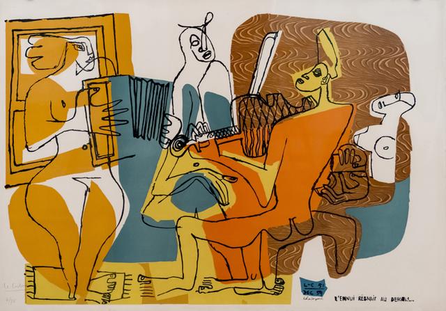 , 'Les musiciennes – L'ennui régnait au dehors,' 1959/60, Placart