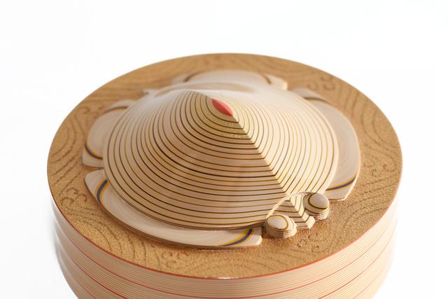 "Otomaru Koudou, 'Layered Lacquer Insence Container ""Turtle""  18 0286', ca. 1930~, Sculpture, Lacquer, Yumekoubou Antique"
