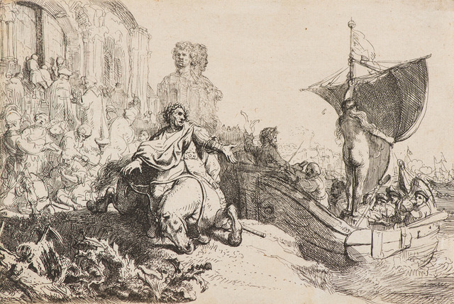 Rembrandt van Rijn, 'Ship of Fortune, Second State (B 111; H 106)', 1633, Print, Etching on paper, Larsen Gallery