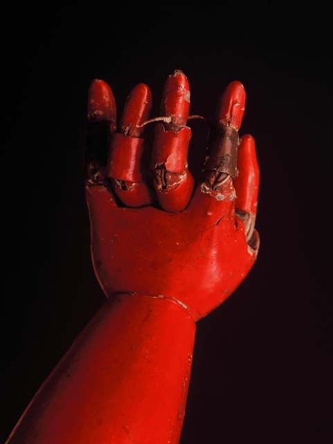 ", '""Red arm of Jyoruri Ningyo"" Spirited face of wooden puppet,' 1991-1993, Photo Gallery Artisan"