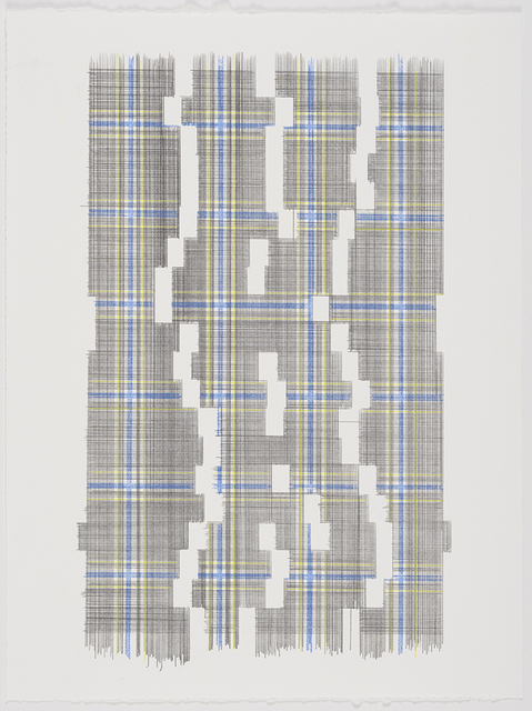 , 'Weight Of Empty Space (Plaid),' 2018, MARQUEE PROJECTS