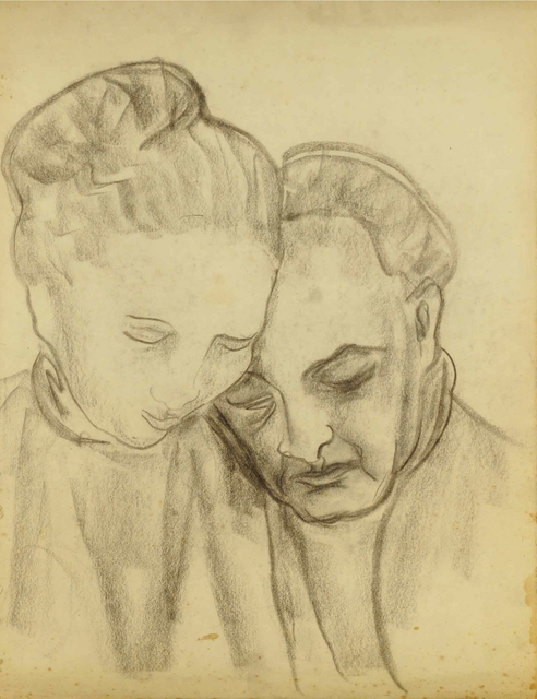 Marie Vorobieff Marevna, 'Study of two people', Roseberys