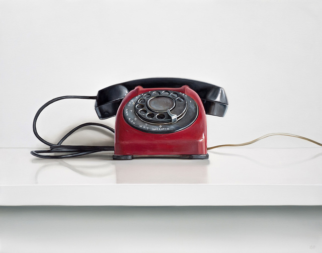 , 'Red Rotary Telephone,' 2018, George Billis Gallery
