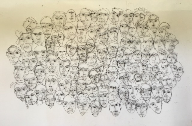 joseph janson, '101 Wire Heads', 2018, Wally Workman Gallery