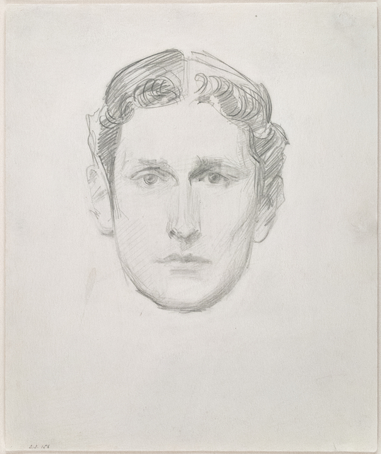 John Singer Sargent, 'Head of a Young Man', Late 19th century, Drawing, Collage or other Work on Paper, Pencil on paper, Adelson Galleries
