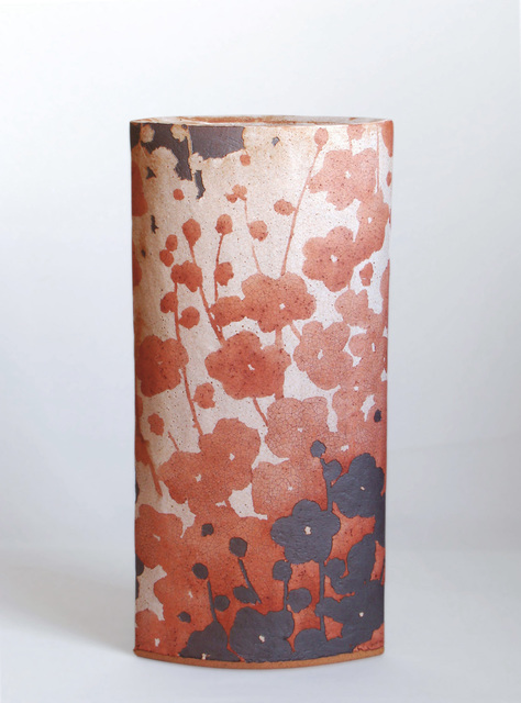, 'Flattened Vase with Red Plum Blossom Design,' 2016, Onishi Gallery