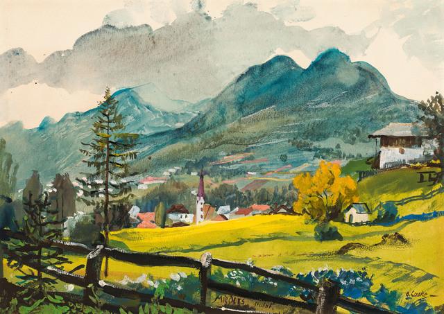 , 'Mieders in the valley Stubaital,' ca. 1925, Galerie Kovacek & Zetter