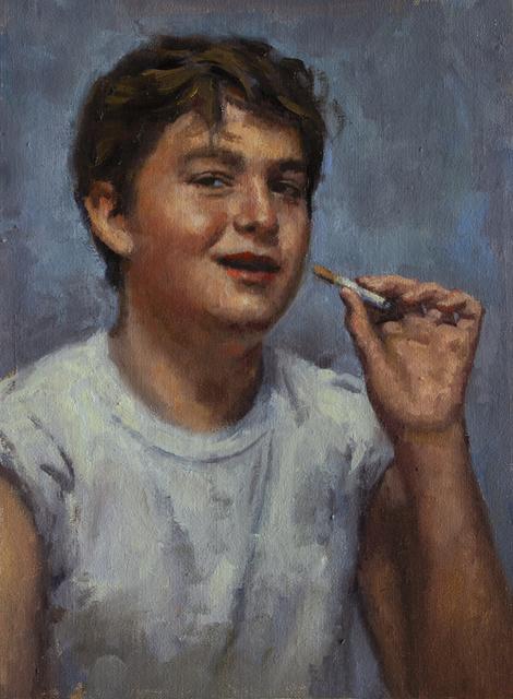 , 'KID SMOKING (FOUR),' 2018, La Luz de Jesus Gallery