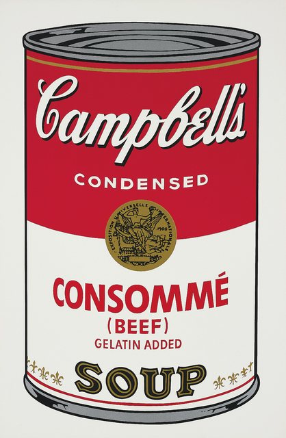 Andy Warhol, 'Consommé (Beef), from Campbell's Soup I', 1968, Print, Screenprint in colours, on wove paper, with full margins., Phillips