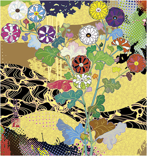 Takashi Murakami, 'Korin, The Time of Celebration', 2015, Print, Offset lithograph with cold stamp and spot varnishing on smooth wove paper, Upsilon Gallery