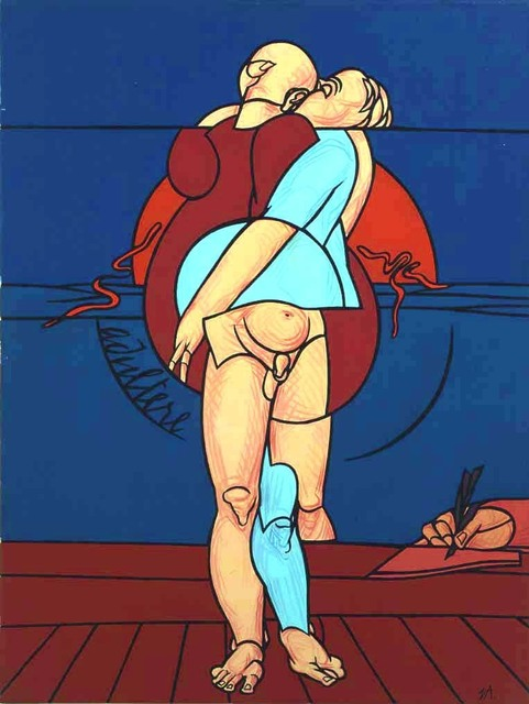 Valerio Adami, 'Adultere', 1986, Painting, Acrylic on canvas, Tornabuoni Art