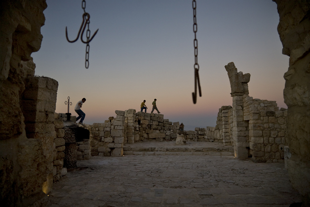 , 'Ancient Byzantine church ruins in the town of Taybeh, the only completely Christian town left in the West Bank,' 2008, Anastasia Photo
