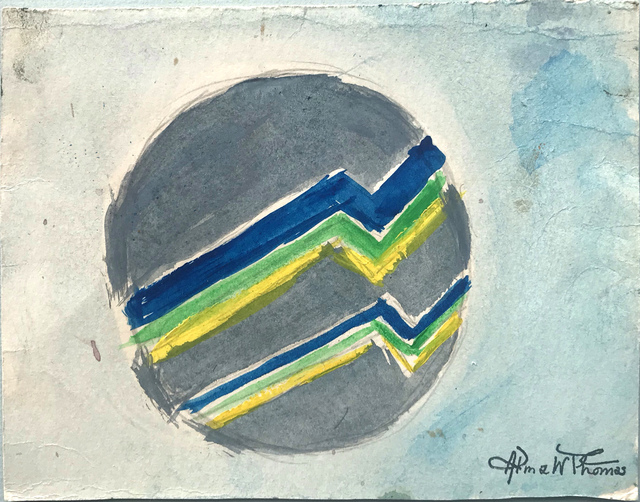 Alma Thomas, 'Untitled (Circular Form in blue, gray green and yellow) ', n.d., Hemphill Fine Arts