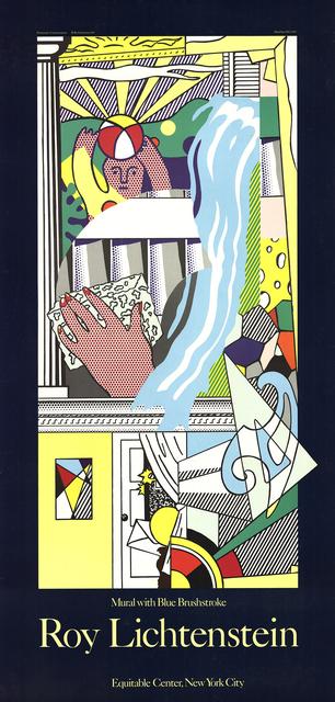 Roy Lichtenstein, 'Mural with Blue Brushstroke', 1984, Print, Serigraph, ArtWise