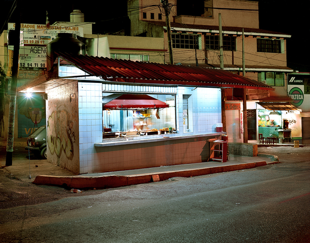 , 'Taco Stand on Main Avenue at Night, Independencia, Mexico State, Mexico,' 2005, Robert Klein Gallery