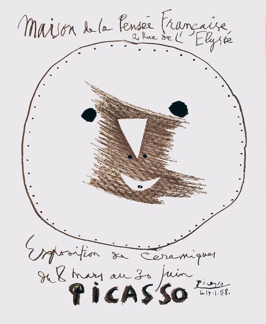 Pablo Picasso, 'Maison de la Pensee Francaise', 1958, ArtWise