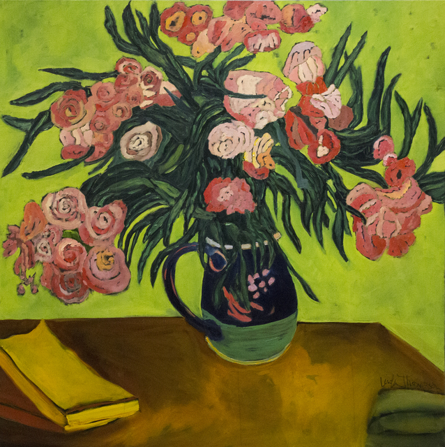 , 'Pink and Green Still Life,' 2018, Eastend Studio and Gallery