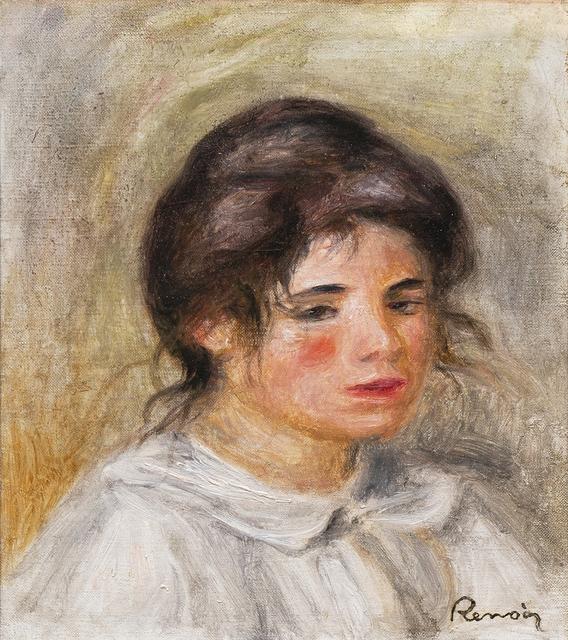 Pierre-Auguste Renoir, 'Femme en blouse blanche (Gabrielle)', ca. 1907, Painting, Oil on canvas, Jody Klotz Fine Art