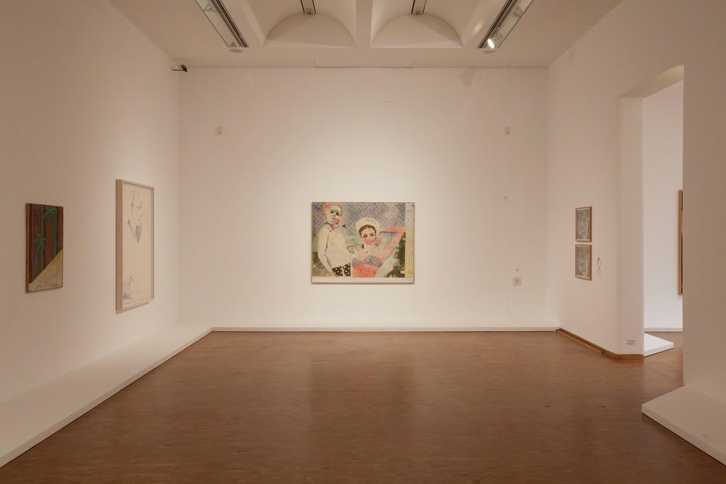 Installation view, Alibis: Sigmar Polke. Retrospective. Freundinnen, 1965/66. © The Estate of Sigmar Polke / VG Bild-Kunst Bonn, 2015. Foto: Rheinisches Bildarchiv, Köln, Alina Cürten