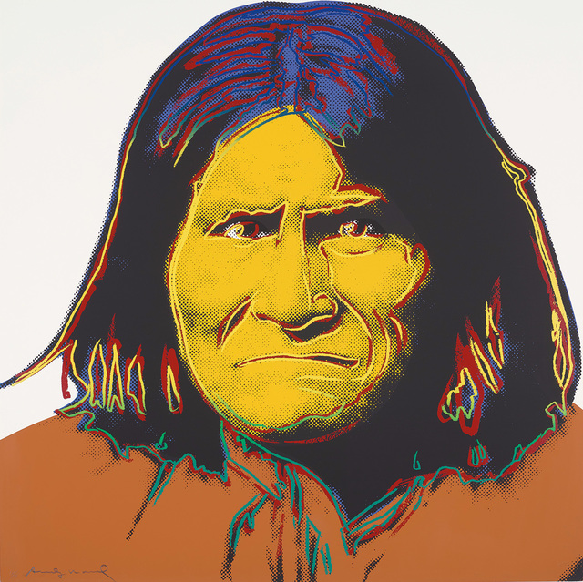 Andy Warhol, 'Geronimo, from Cowboys and Indians', 1986, Print, Screenprint in colours, on Lenox Museum Board, the full sheet., Phillips