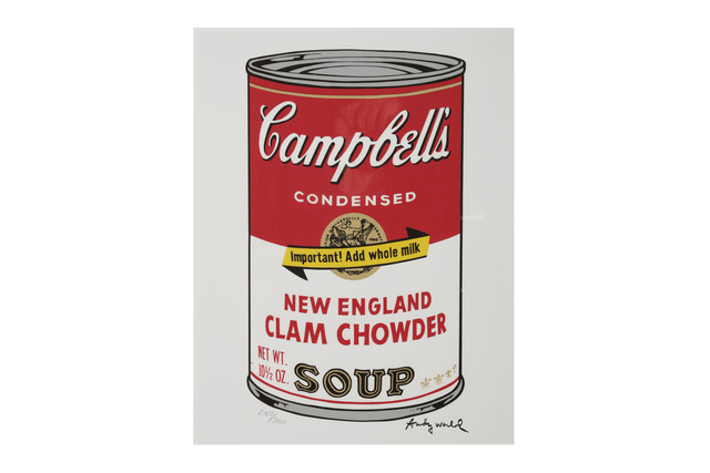 Andy Warhol, 'Campbells Soup New England Clamchowder', 1980s, Chiswick Auctions