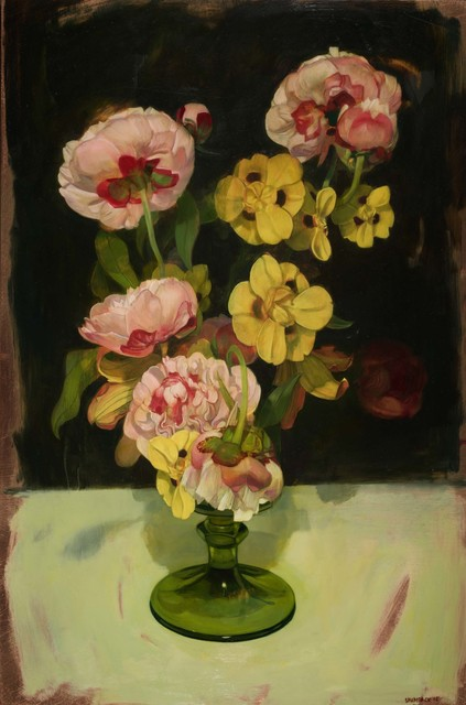 , 'Peonies and African Irises,' 2015, LeMieux Galleries
