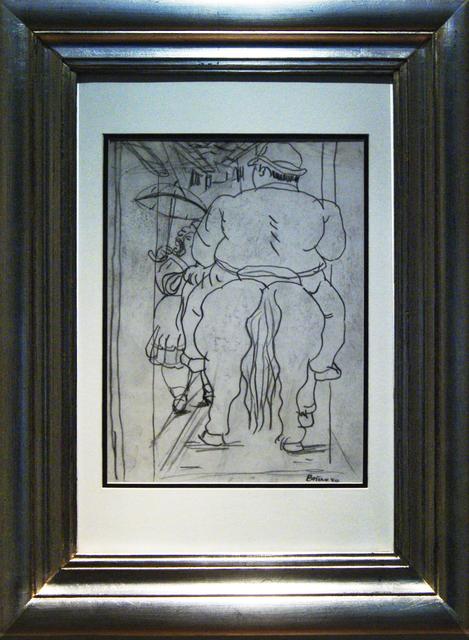 , 'Sin título (Señor con caballo de espaldas),' 1980, Oscar Roman