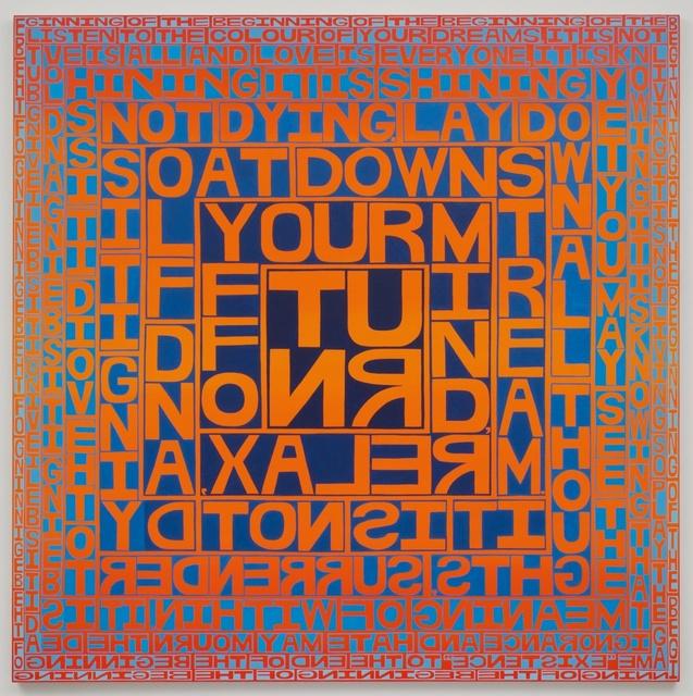 , 'Tomorrow Never Knows (Big Orange),' 2016, Freight + Volume