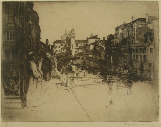 Sir David Young Cameron, 'Canal, Venice', ca. 1895, Private Collection, NY