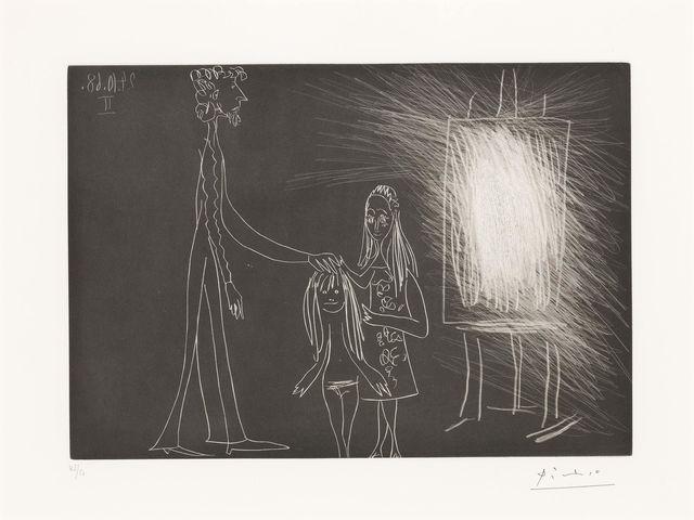 Pablo Picasso, 'PIERO CROMMELYNCK AVEC SA FEMME ET SA FILLE DANS L'ATELIER II (B. 1856)', 1968, Doyle