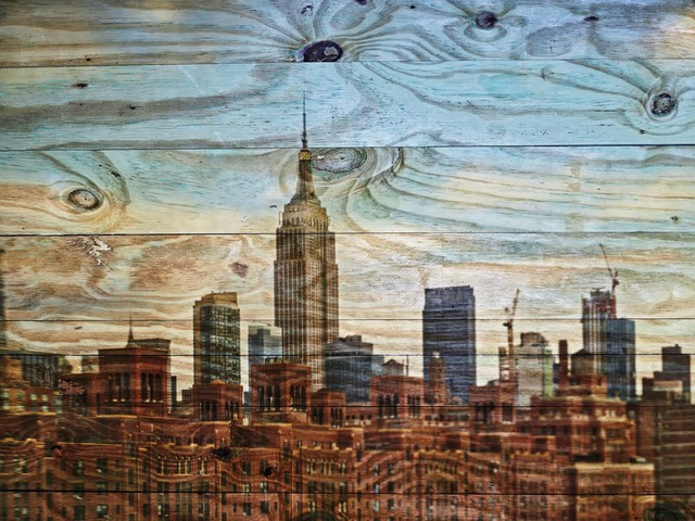 , 'Tent-Camera Image on Ground: View of The Empire State Building Looking West from 512 W. 22nd St Roof,' 2019, Edwynn Houk Gallery
