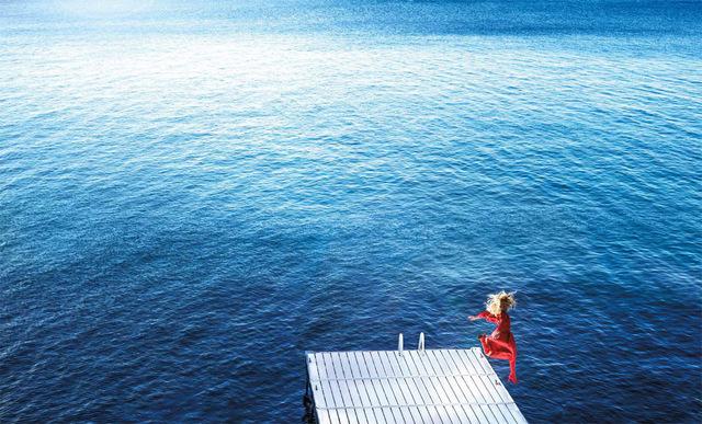 David Drebin, 'Jumping into the Blue', 2018, Laurent Marthaler Contemporary
