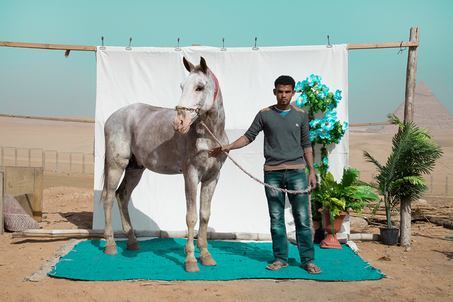 , 'Mohamed with Habesha, from the series Edge of Giza,' 2016, Tintera