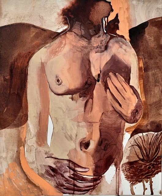 , 'Nude on pink landscape,' 2019, Secret Art Ltd.